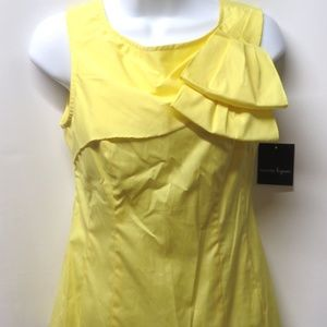 NWT Nanette Lepore Canary Yellow Cascading Top 4